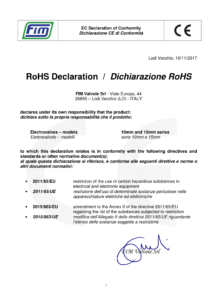 Certification CE RoHs FIM Valvole Solenoid Valves