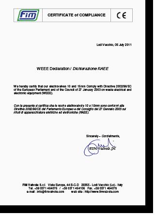 certification ce-weee-raee