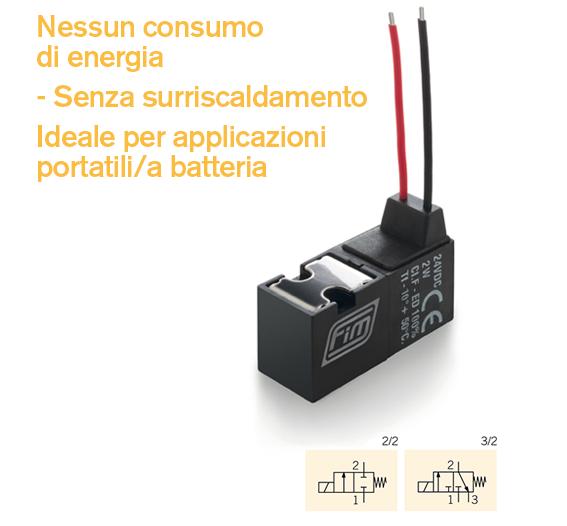 valvola v10 mm nessun consumo di energia ideale per applicazioni portatili o a batteria