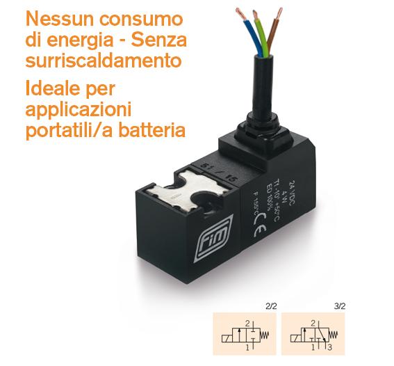 valvola solenoide v 15mm ideale per applicazioni portatili e a batterie