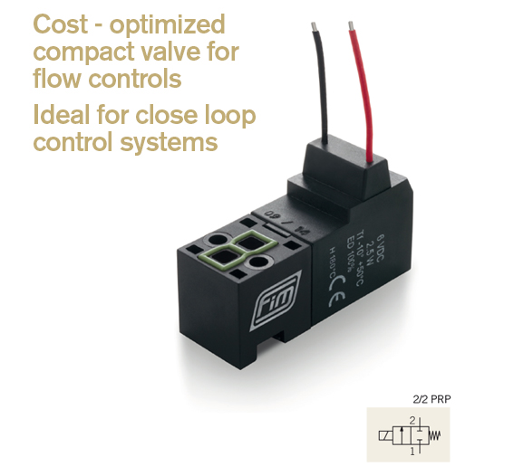 v-15-mm-22-prp cost optimized compact valve for flow control and close loop control system